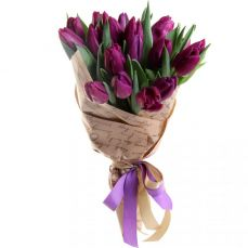 A basket of tulips and irises